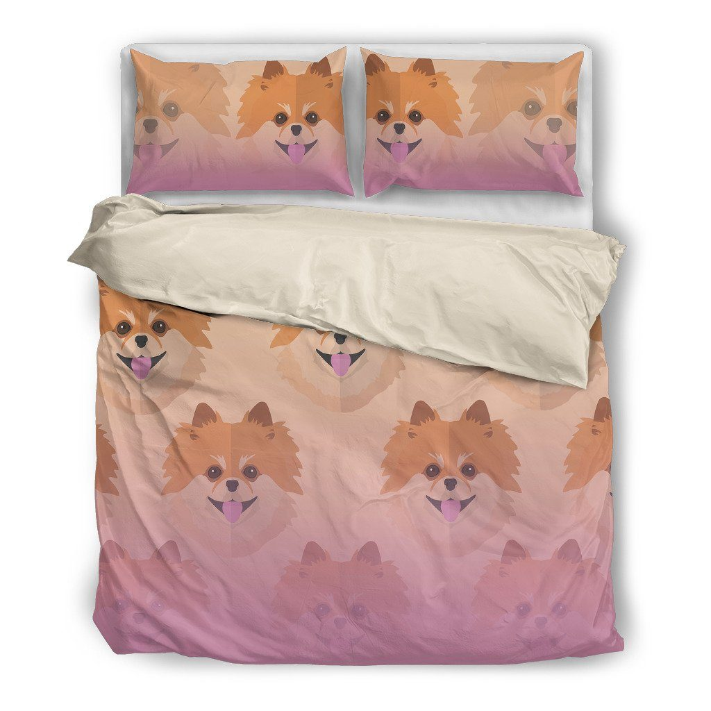 Pomeranian Lover Dog Themed Bedding Sets (Includes Duvet Cover, Twin/Queen/King Size Bed Sheet & 2 Pillow Covers)