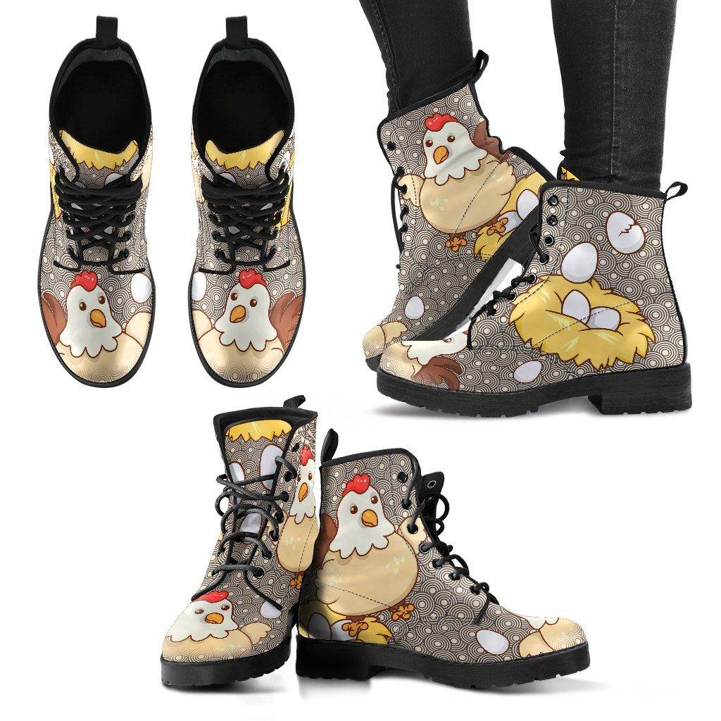 Chicken Eggs Boots