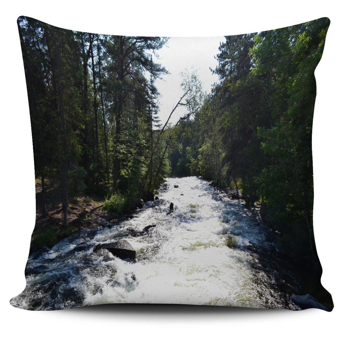 Relaxing Rapids Themed Pillow Cover