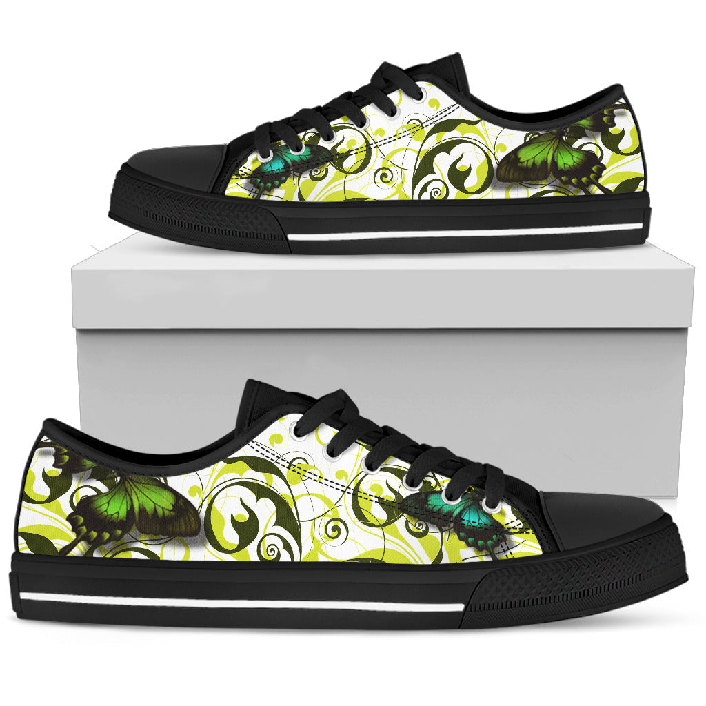 Women's Butterfly Print Low Tops Shoes