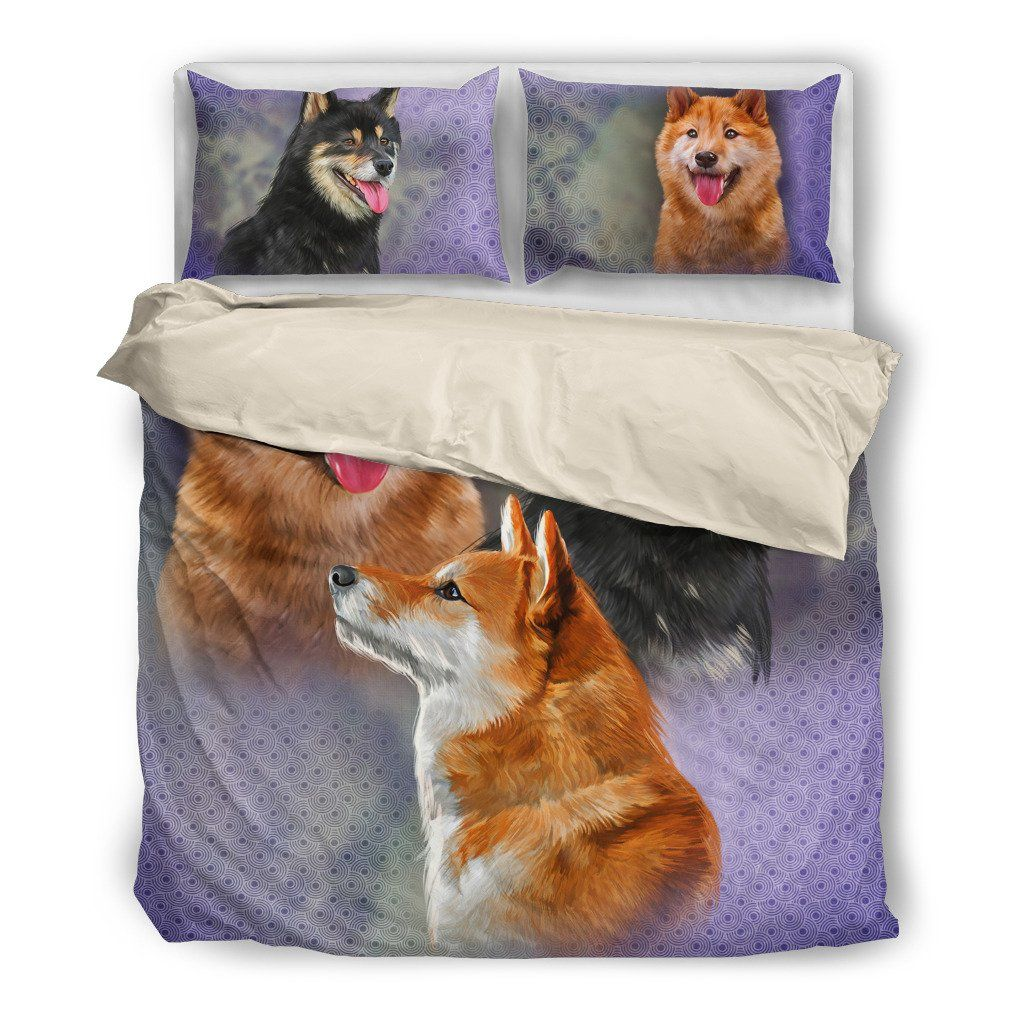 Shiba Inu Dog Themed Bedding Sets (Includes Duvet Cover, Twin/Queen/King Size Bed Sheet & 2 Pillow Covers)