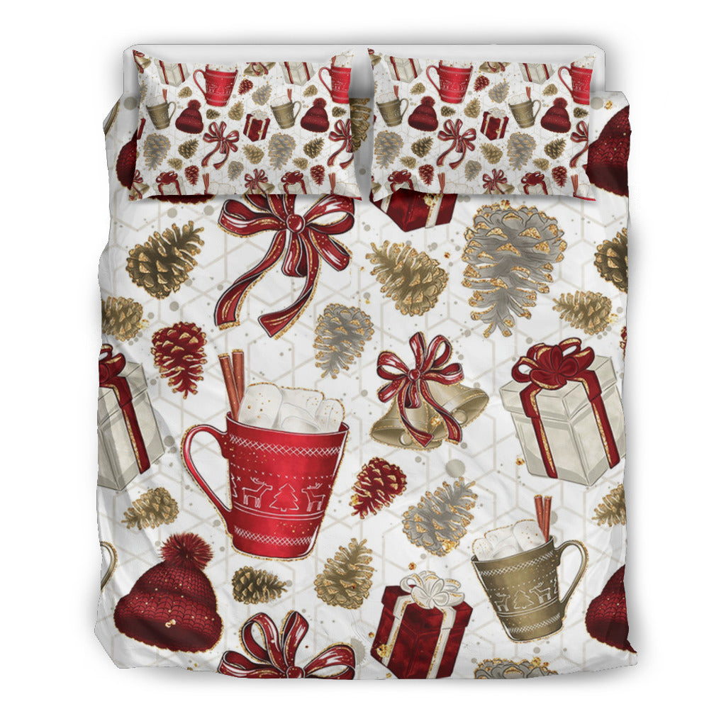 CHRISTMAS Themed Bedding Sets (Includes Duvet Cover, Twin/Queen/King Size Bed Sheet & 2 Pillow Covers)