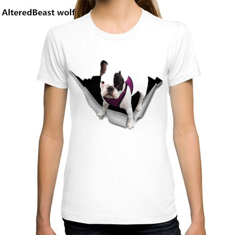 Cute and Fun PUG 3D & more themed T-Shirts for Women