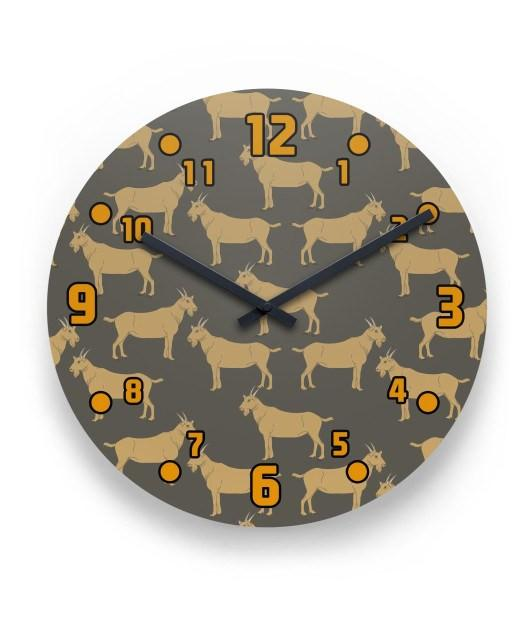 Goat 2 Wall Clock