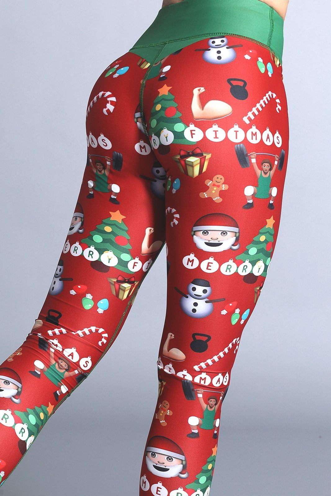 Mrs. Claus & Festive Emoji Leggings (Free Shipping Today)