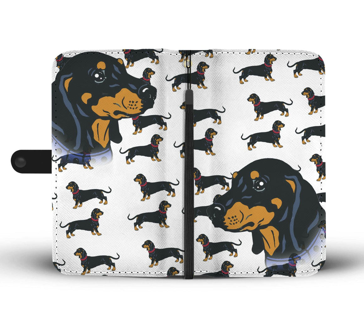 Hand Crafted Dachshund Wallet Case
