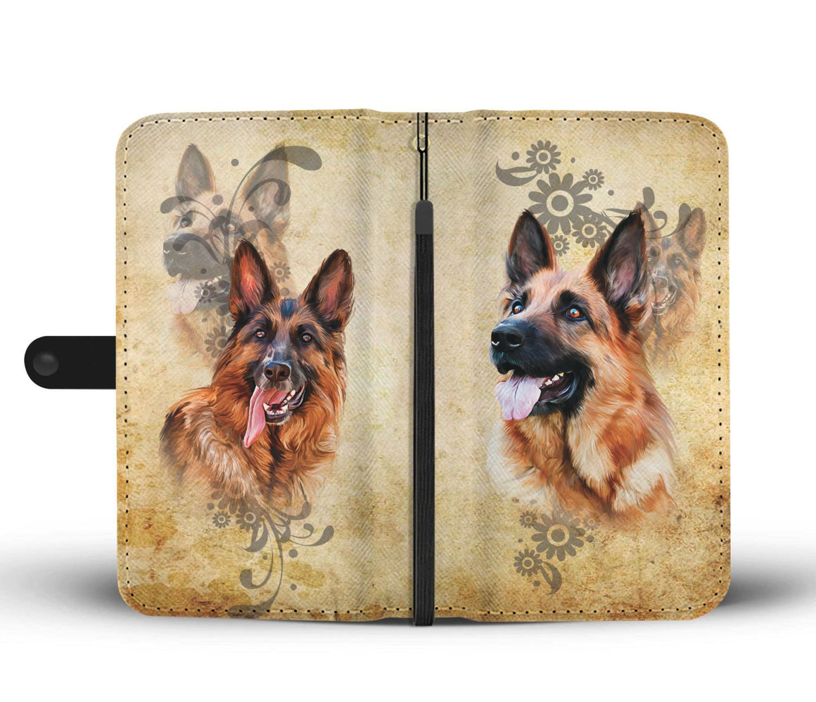 Hand Crafted German Shepherd Lover Wallet Case