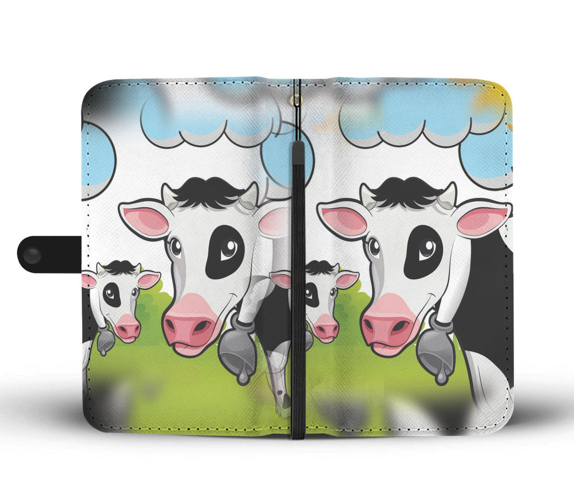 Hand Crafted Cow Lover Wallet Case