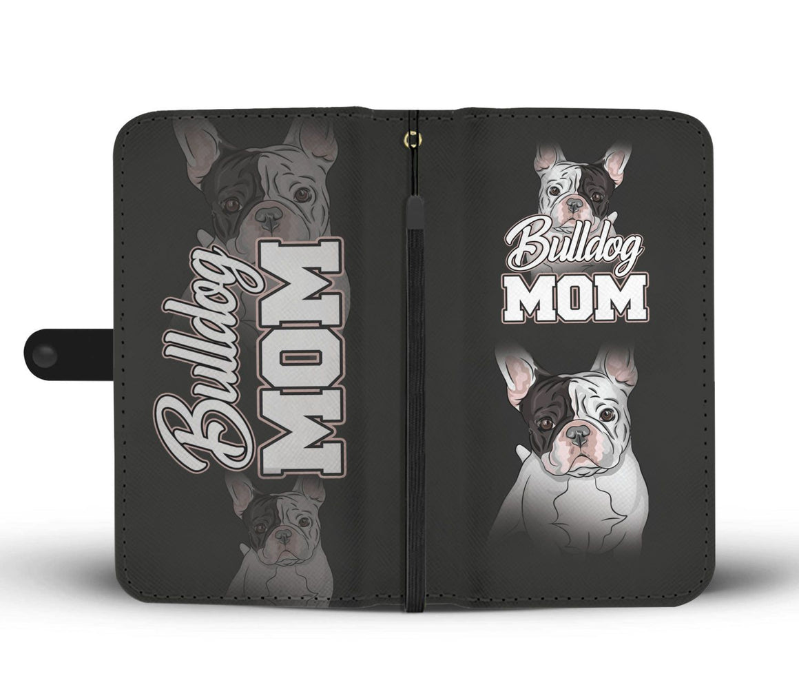 Hand Crafted Bulldog Mom Wallet Case