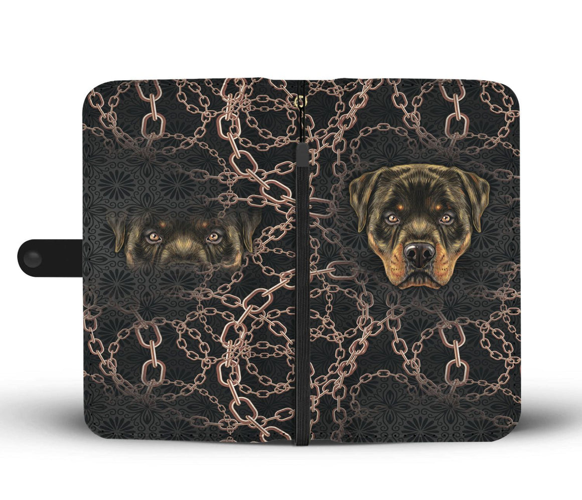 Hand Crafted Rottweiler Love Wallet Case