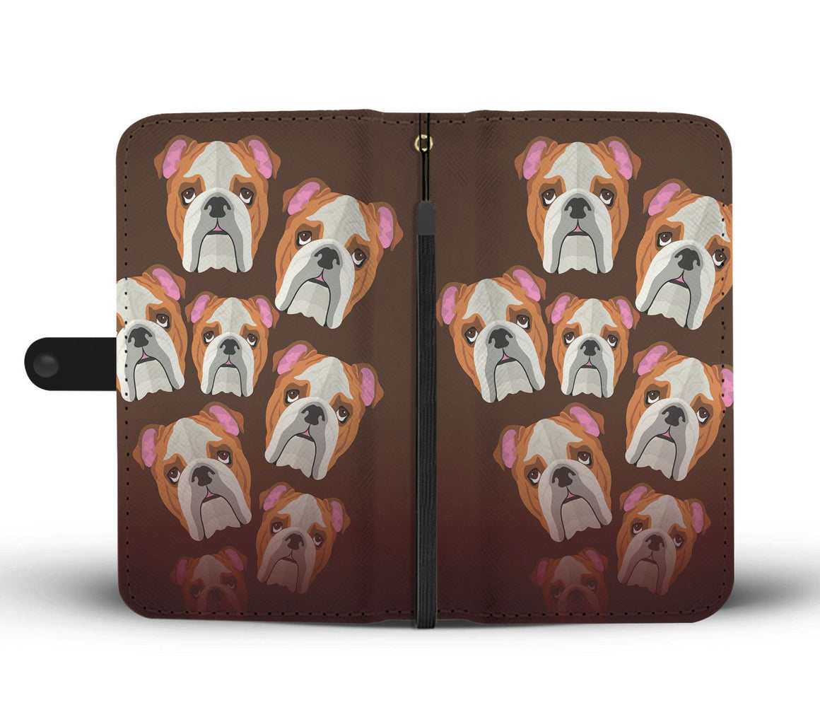 Hand Crafted Bulldog Lover Wallet Case