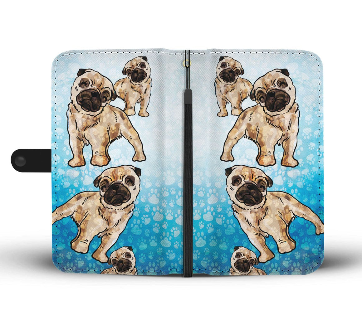 Hand Crafted Pug Lover Wallet Case