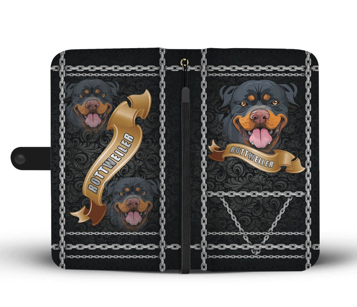 Hand Crafted Rottweiler Wallet Case
