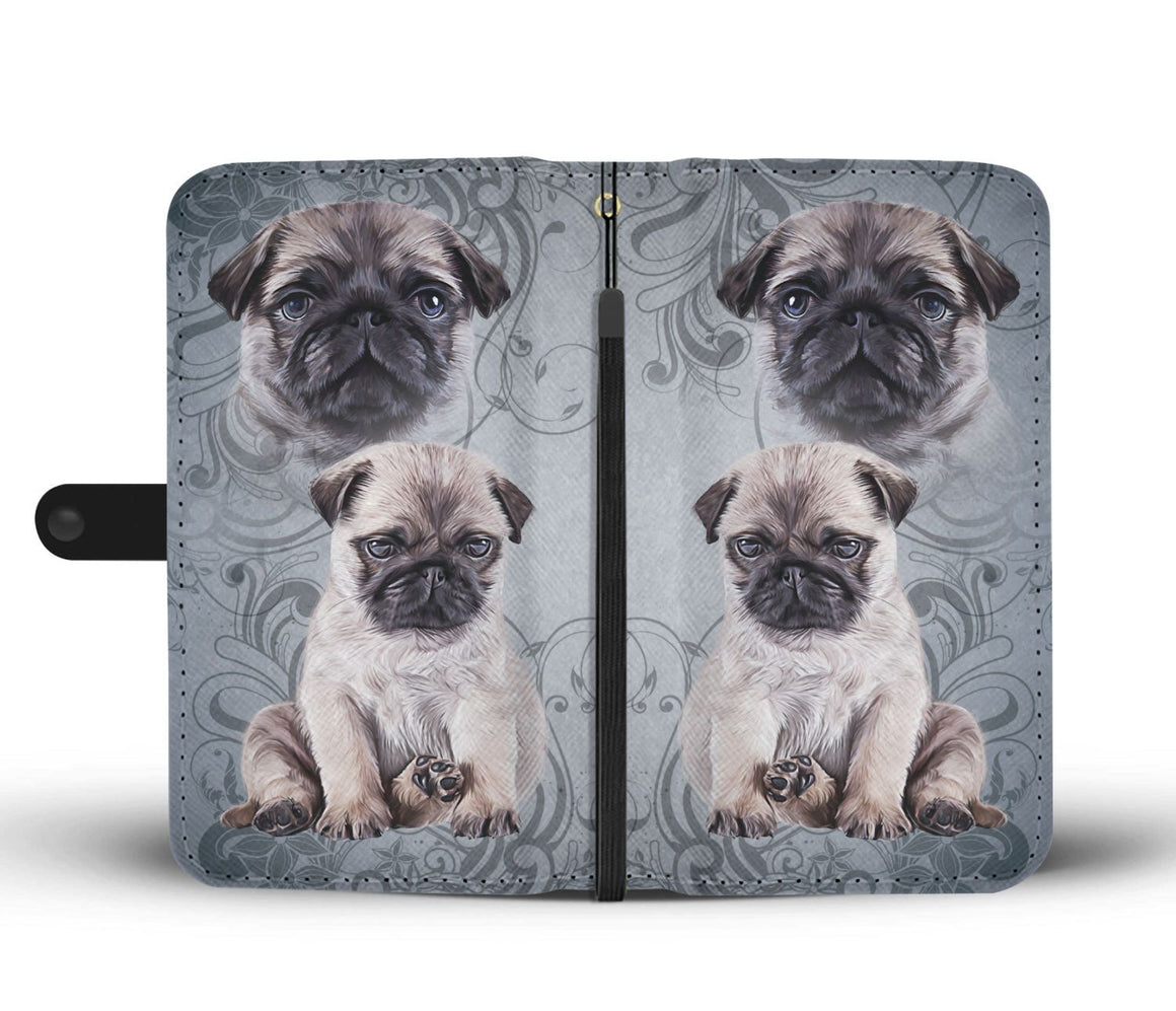 Hand Crafted Pug Wallet Cover