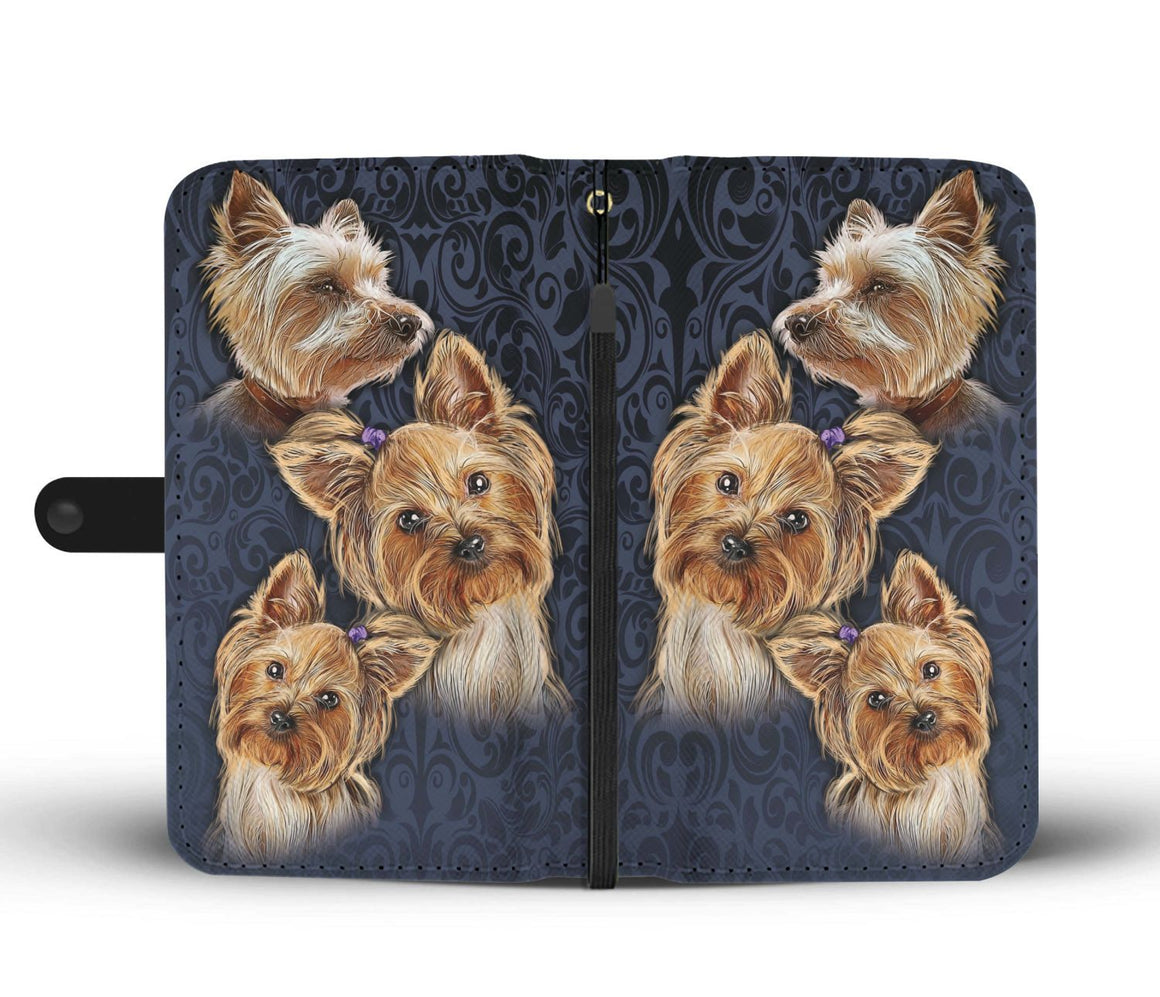 Hand Crafted Yorkshire Terrier Wallet Case