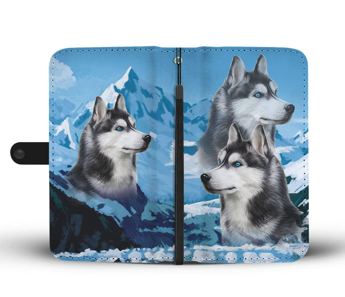 Hand Crafted Husky Free Wallet Case