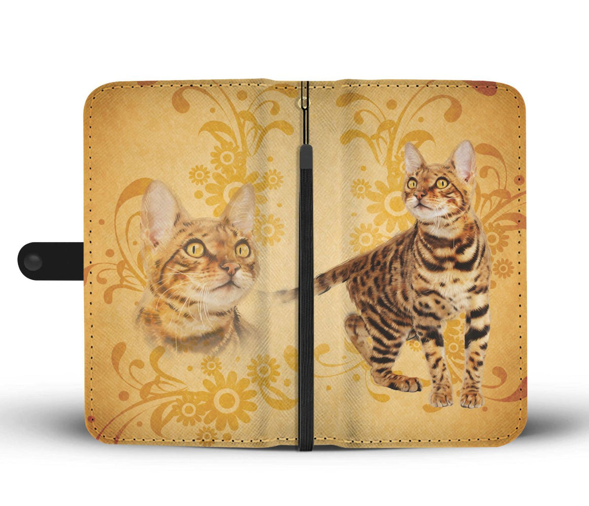 Hand Crafted Bengal Cat Wallet Case