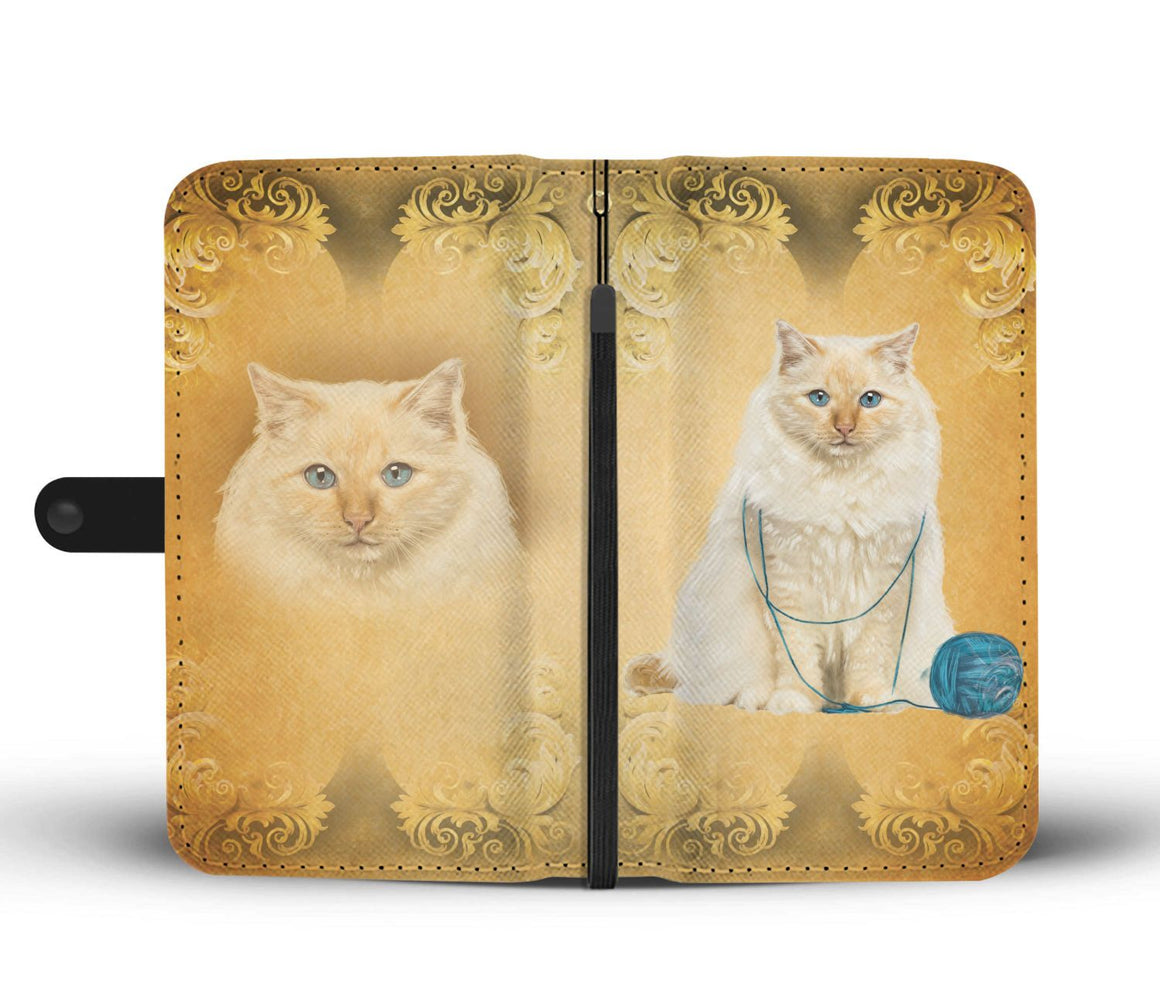 Hand Crafted Birman Cat Wallet Case