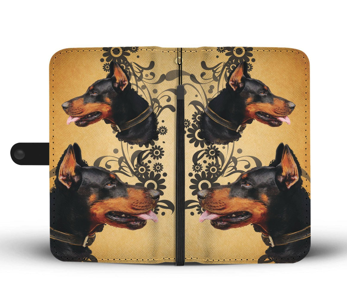 Hand Crafted Doberman Lover Wallet Case
