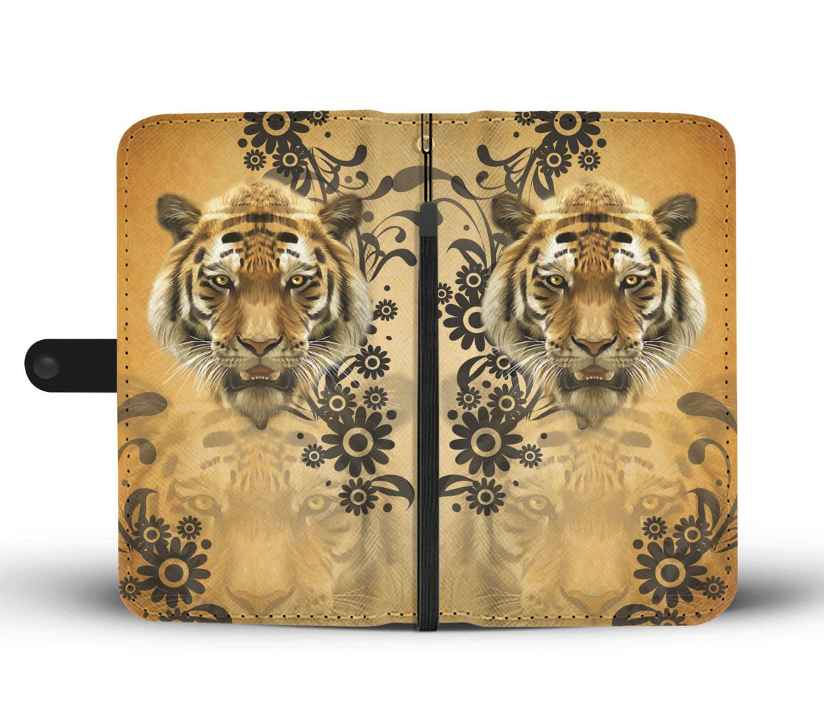 Hand Crafted Tiger Wallet Case