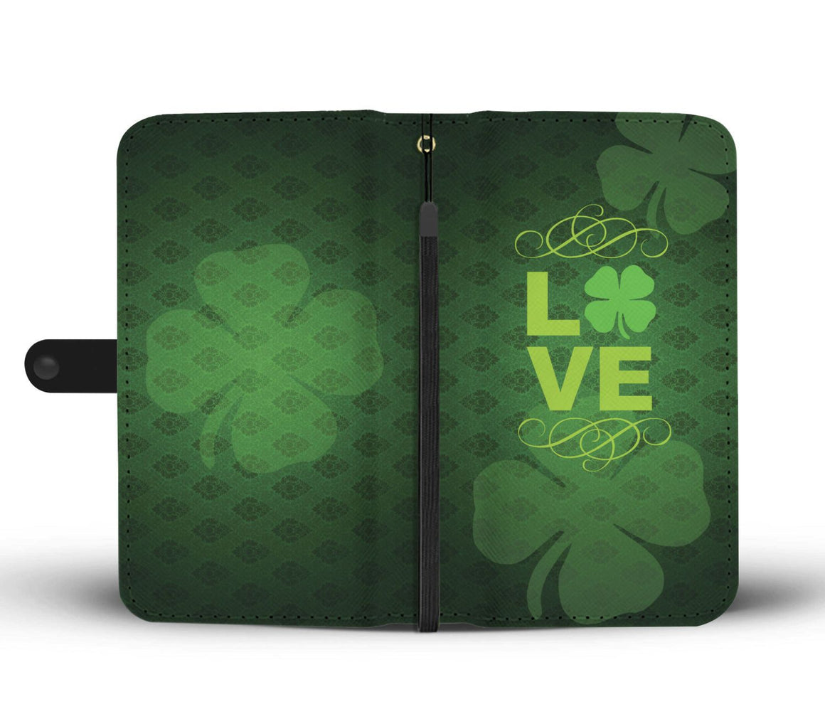 Hand Crafted Clover Love Wallet Case