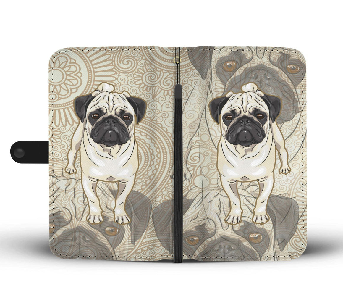 Hand Crafted Pug Love Wallet Case