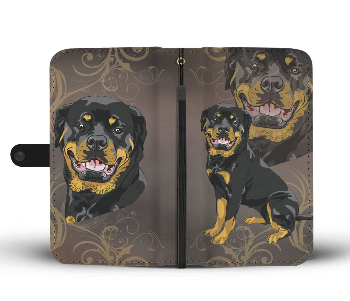 Hand Crafted Rottweiler Lover Wallet Case