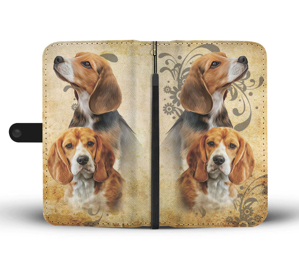 Hand Crafted Beagle Wallet Case