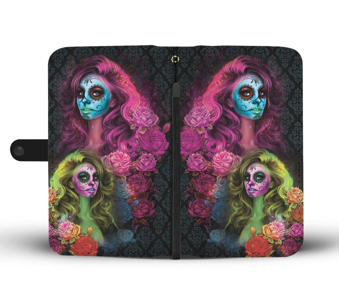 Hand Crafted Calavera Wallet Case