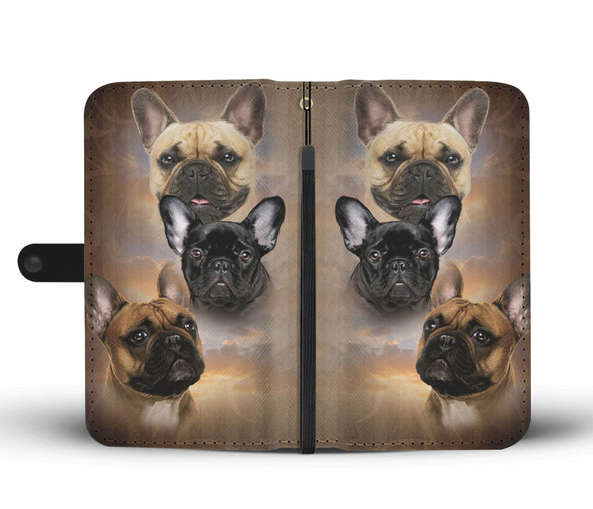 Hand Crafted  French Bulldog Wallet Case