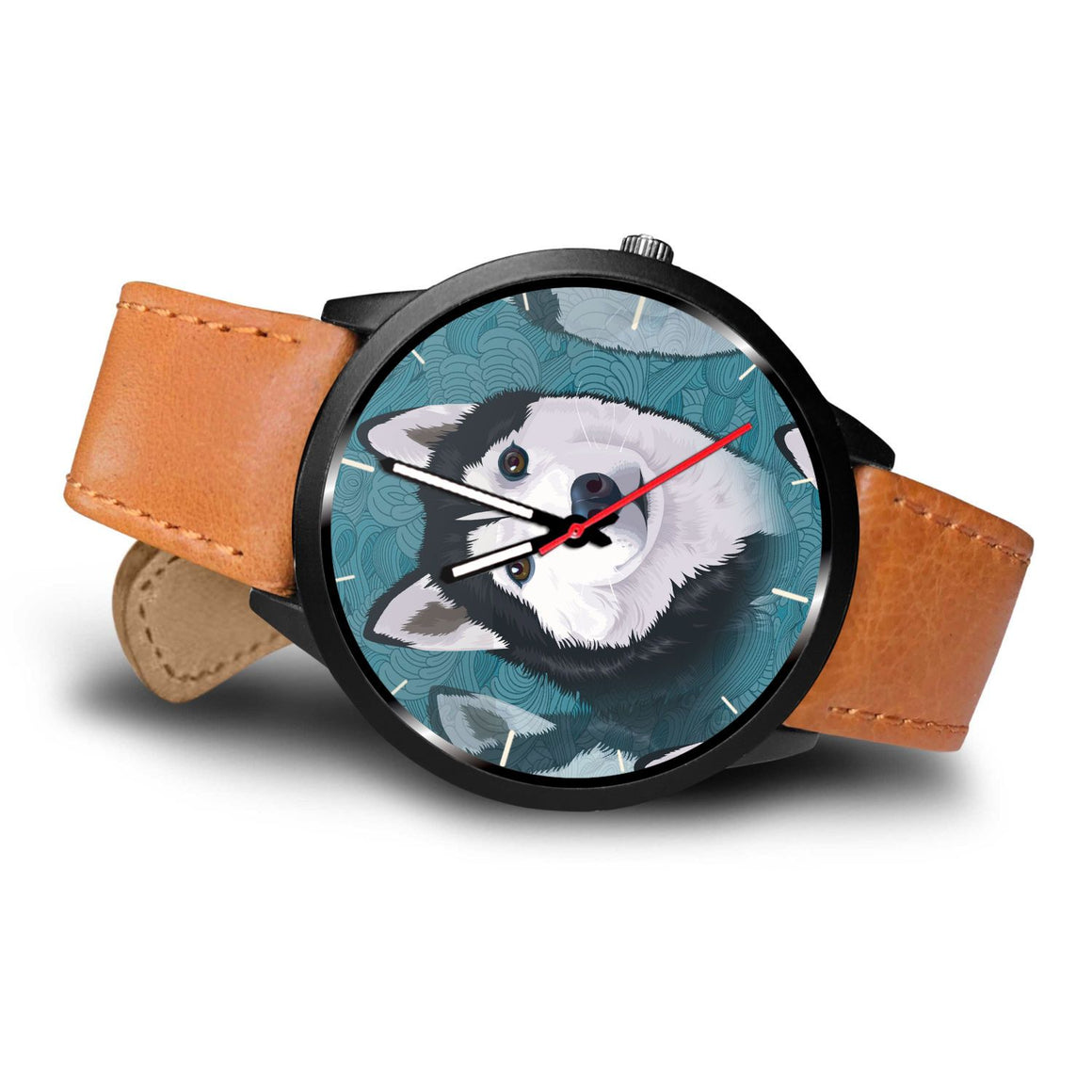 Blue Husky Themed Watch