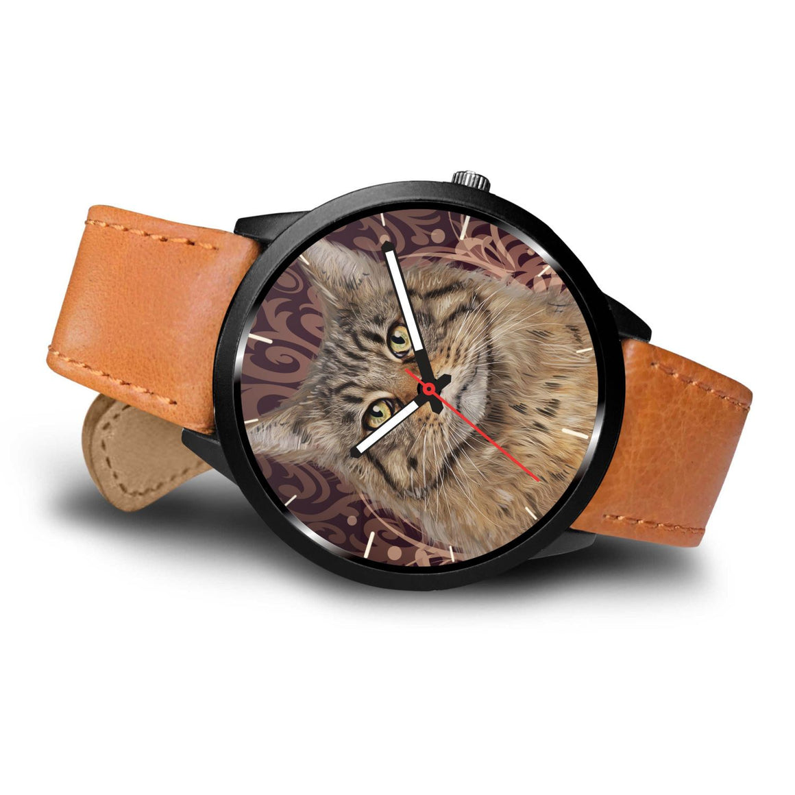 Maine Coon Cat Themed Watch