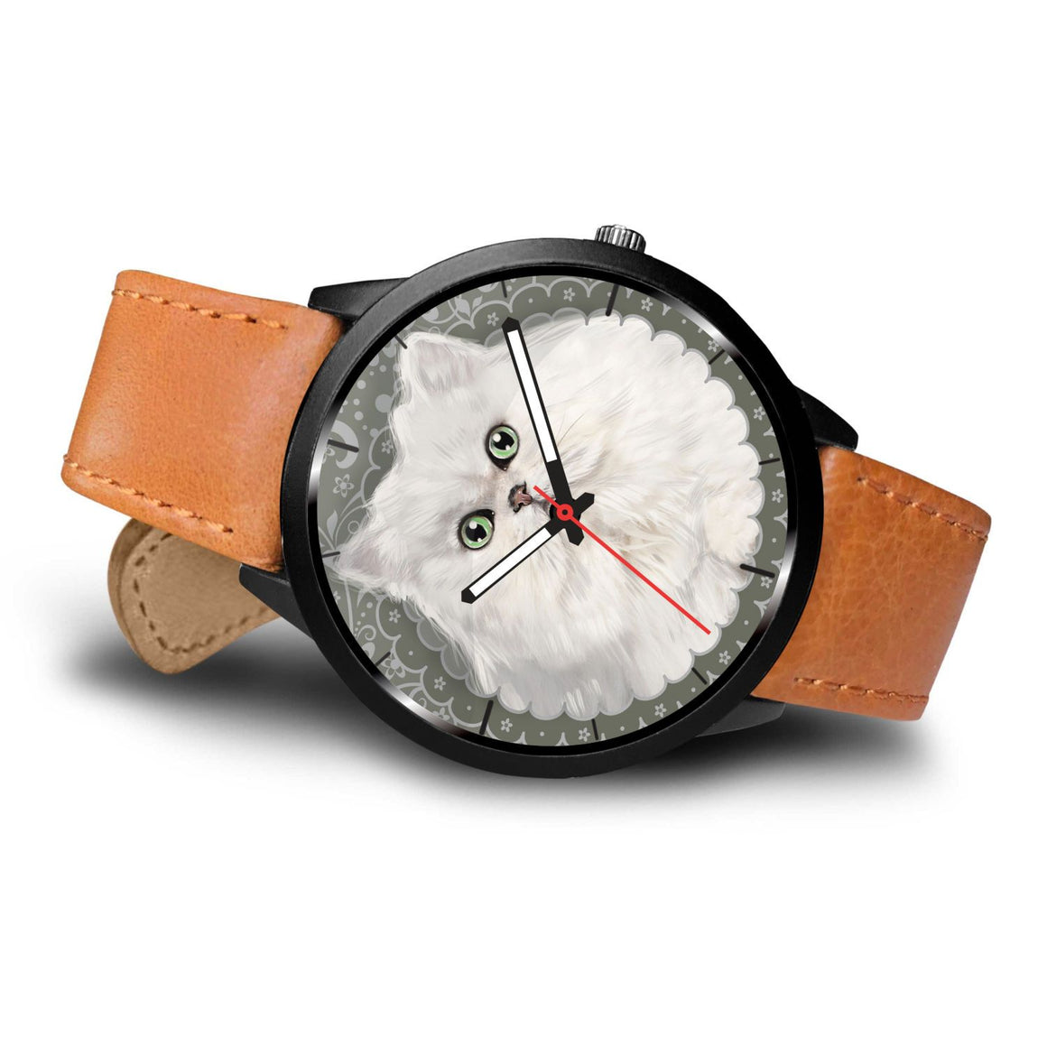White Persian Cat Themed Watch