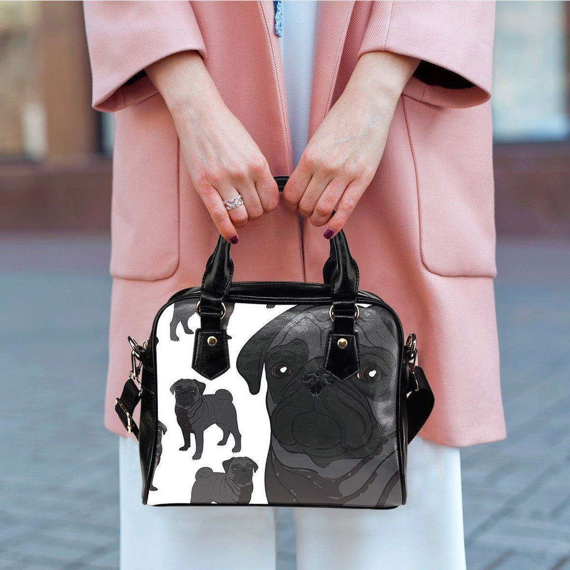 Pug 3 Shoulder Bag