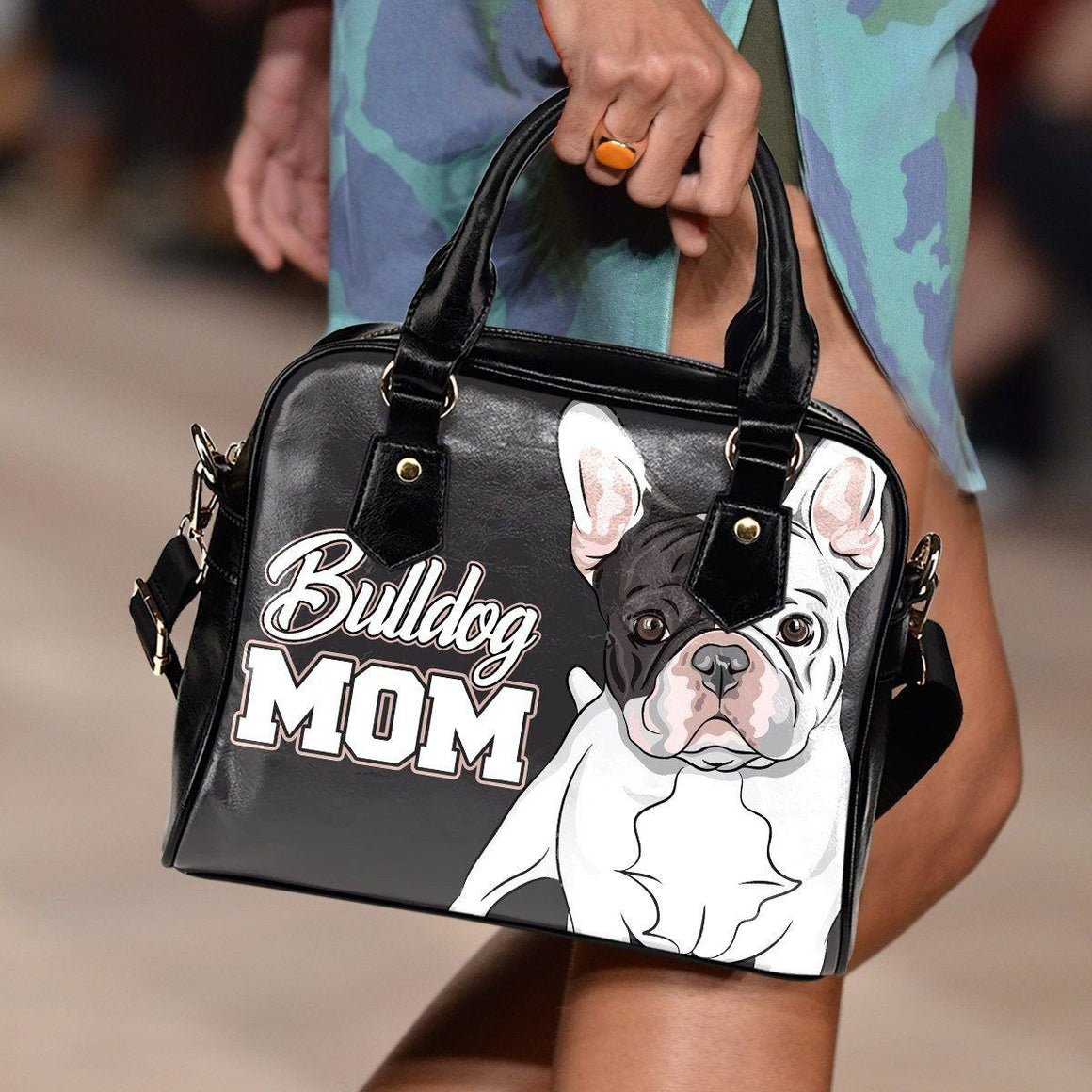 Bulldog Mom Shoulder Bag - ONLINEPRESALES