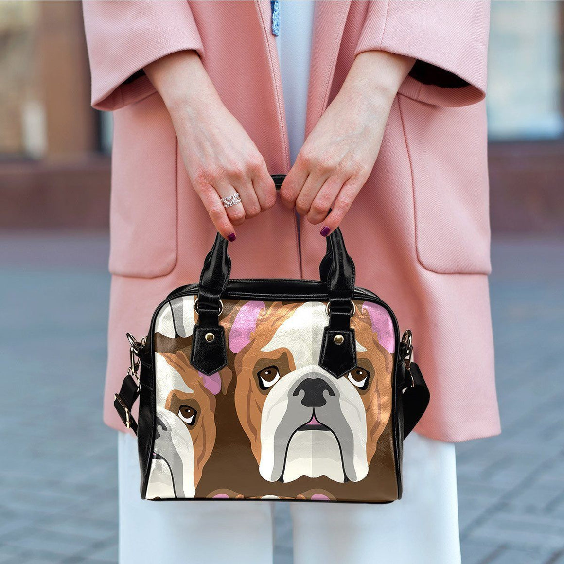 Bulldog Lover Shoulder Bag - ONLINEPRESALES
