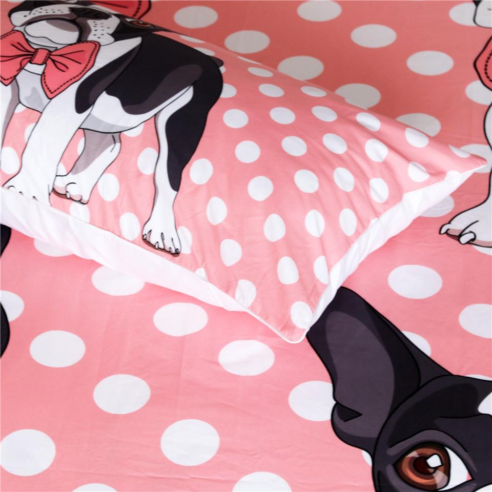 Bulldog Bow Tie Themed Bedding Sets (Includes Duvet Cover, Twin/Queen/King Size Bed Sheet & 2 Pillow Covers)