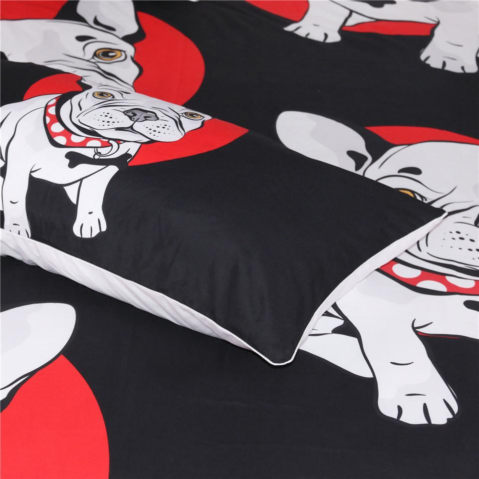 Bulldog Cute Dog Themed Bedding Sets (Includes Duvet Cover, Twin/Queen/King Size Bed Sheet & 2 Pillow Covers)