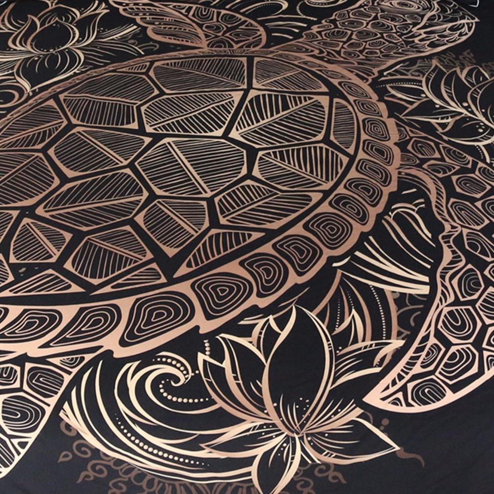 Golden Tortoise Carpet Decorative
