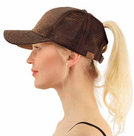 2018 Summer Ponytail Baseball Cap - Brown