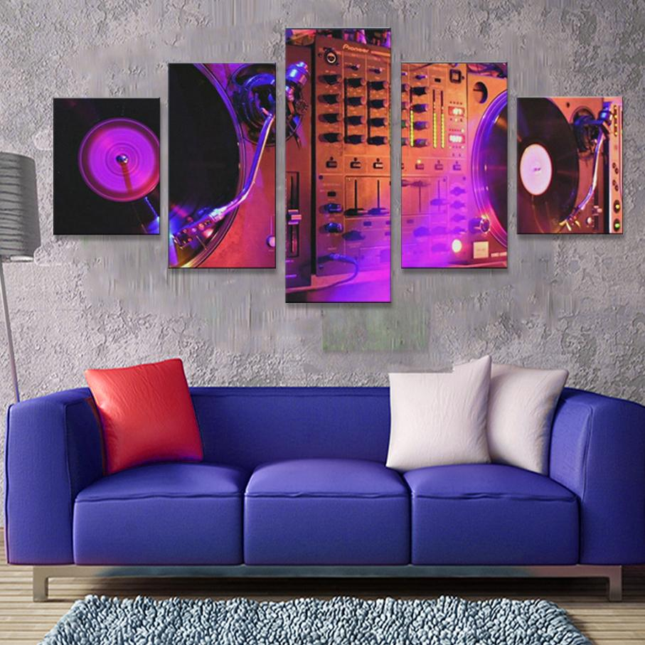 DJ Night Club of Mural Bar Production Canvas - ONLINEPRESALES