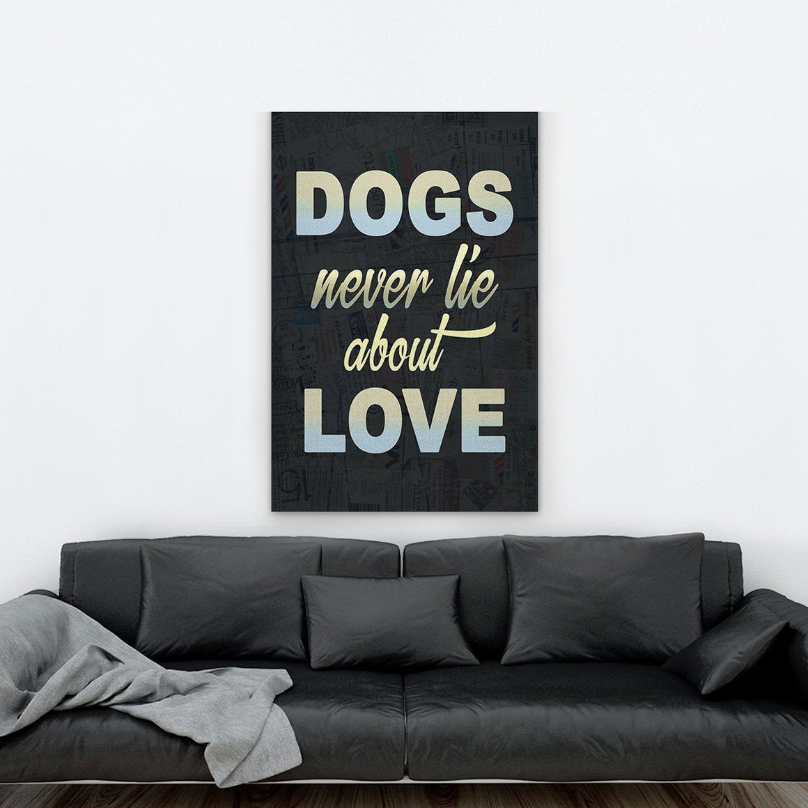 Dogs Love Canvas - ONLINEPRESALES