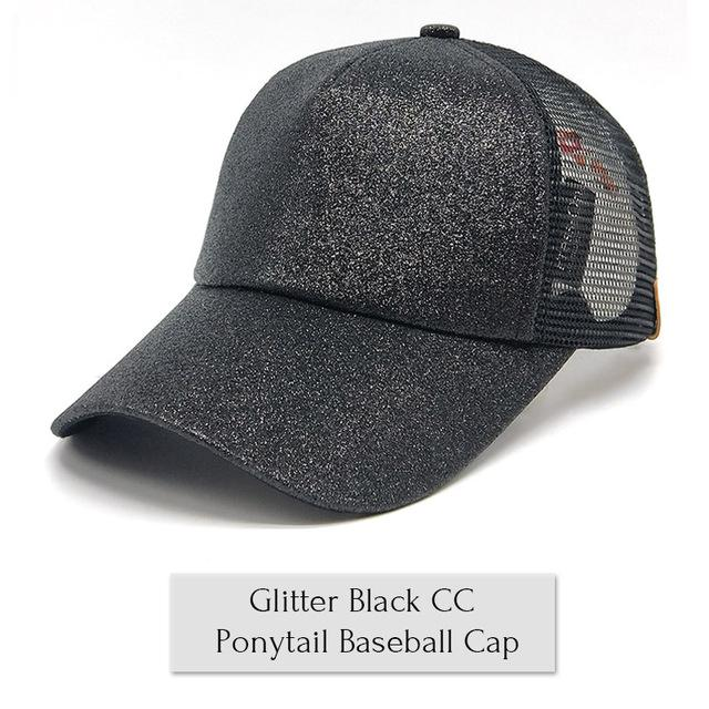 2018 Summer Ponytail Baseball Cap - Black