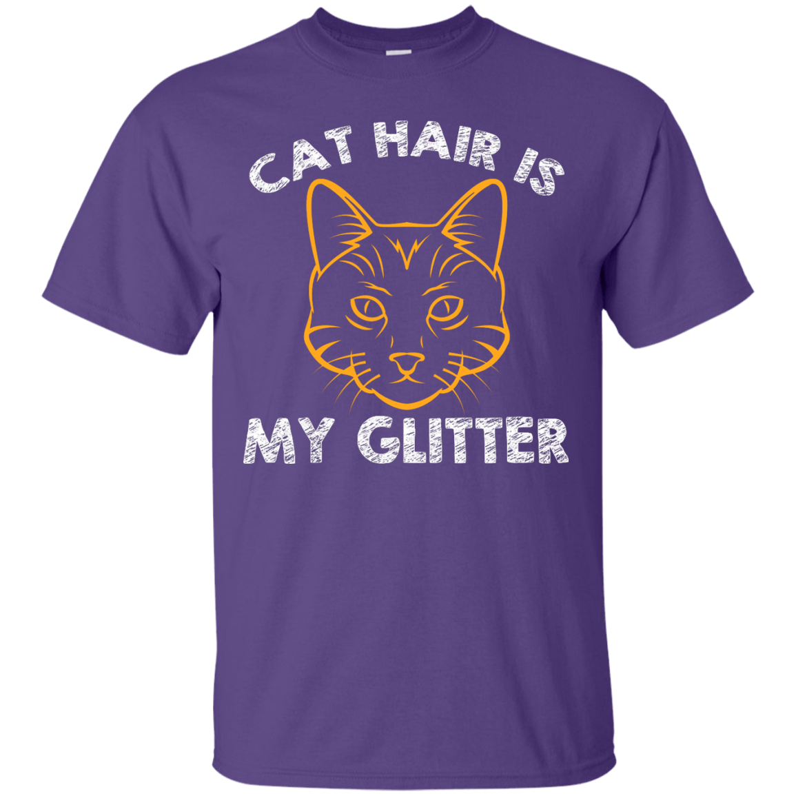 Cat Hair Is My Glitter themed T-Shirts and Hoodies for Men and Women