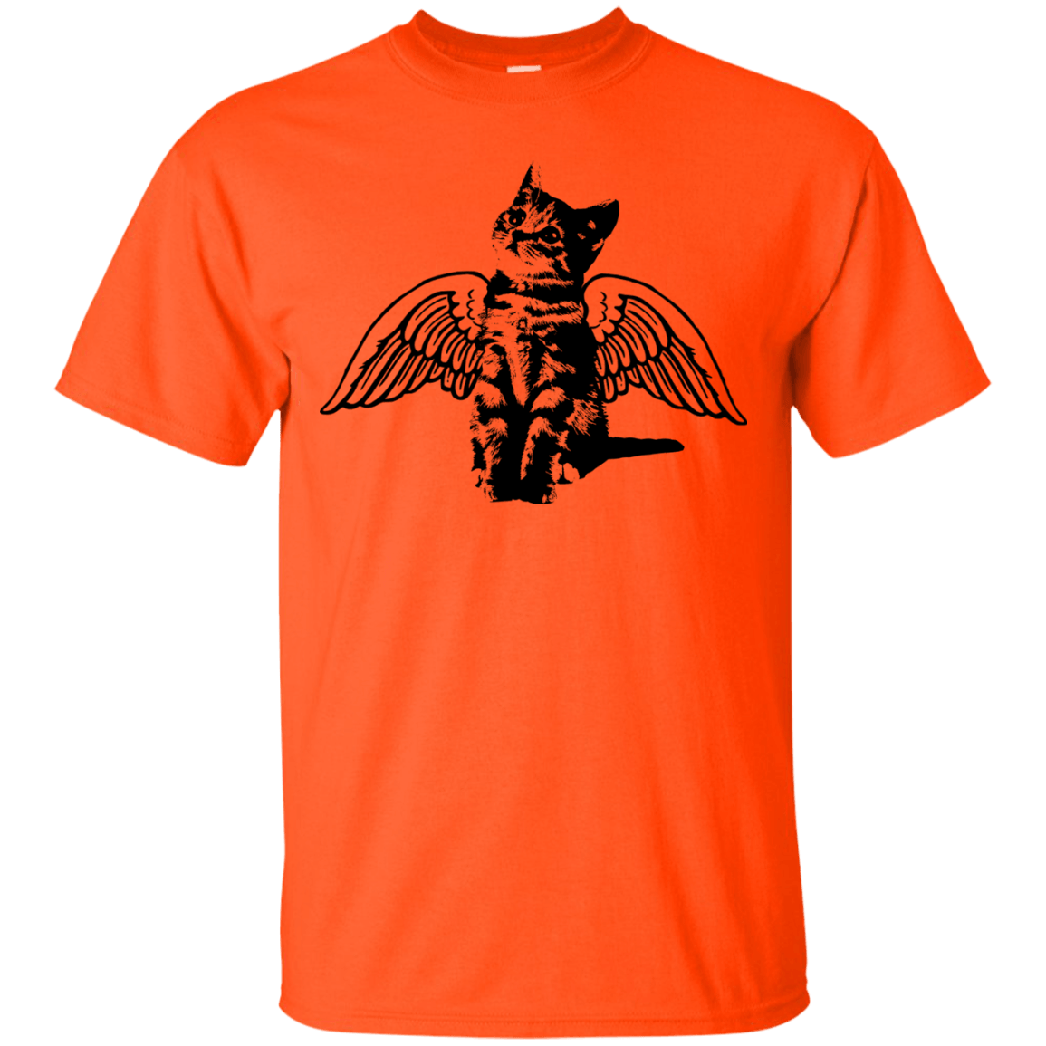 Winged Cat themed T-Shirts and Hoodies for Men and Women