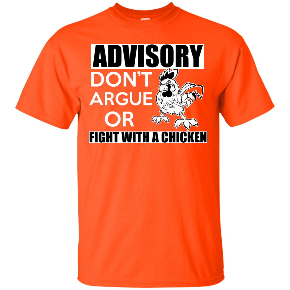 Fight With A Chicken Black Custom   Ultra Cotton T-Shirt
