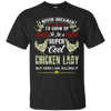 Super Cool Chicken Lady Black Custom  Ultra Cotton T-Shirt