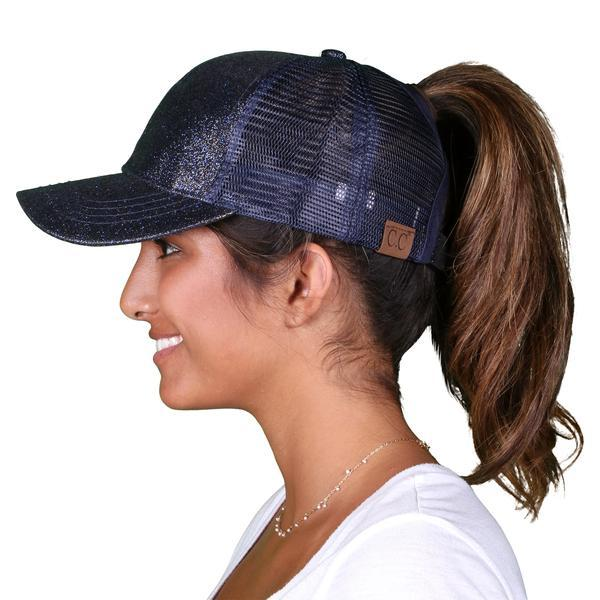 2018 Summer Ponytail Baseball Cap - Navy