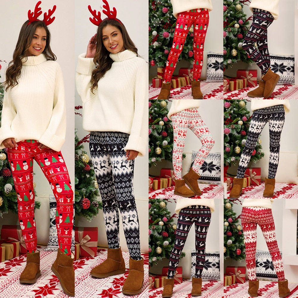 Heather line of Christmas and Holiday Leggings Cotton Polyester