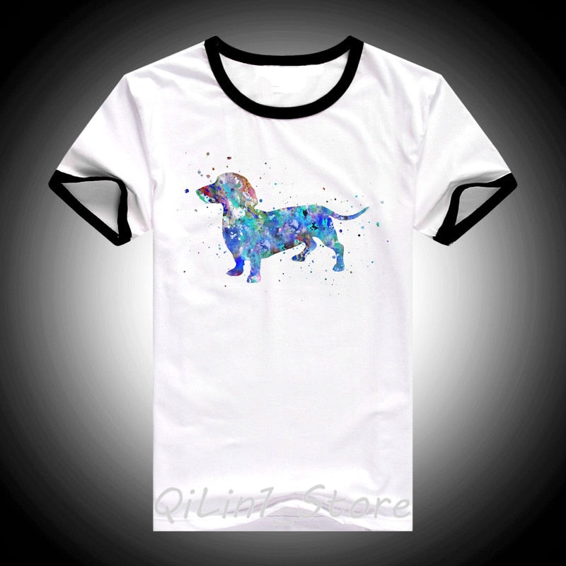 Awesome Colorful Dog Design Shirt